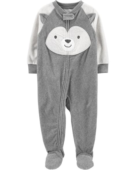 1-Piece Husky Fleece Footie PJs