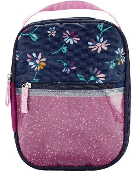 Floral Clear Glitter Lunch Box