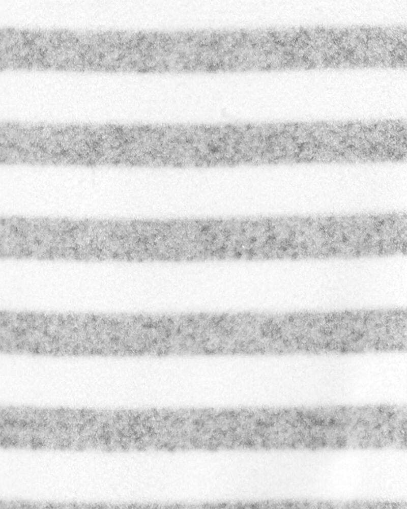 Grenouillère en molleton rayé à glissière , , hi-res