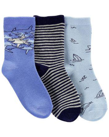 3-Pack Shark Crew Socks