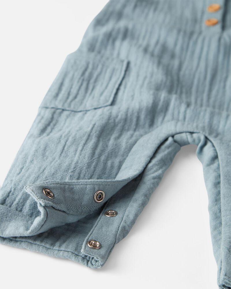 Organic Cotton Gauze Overall Jumpsuit, , hi-res