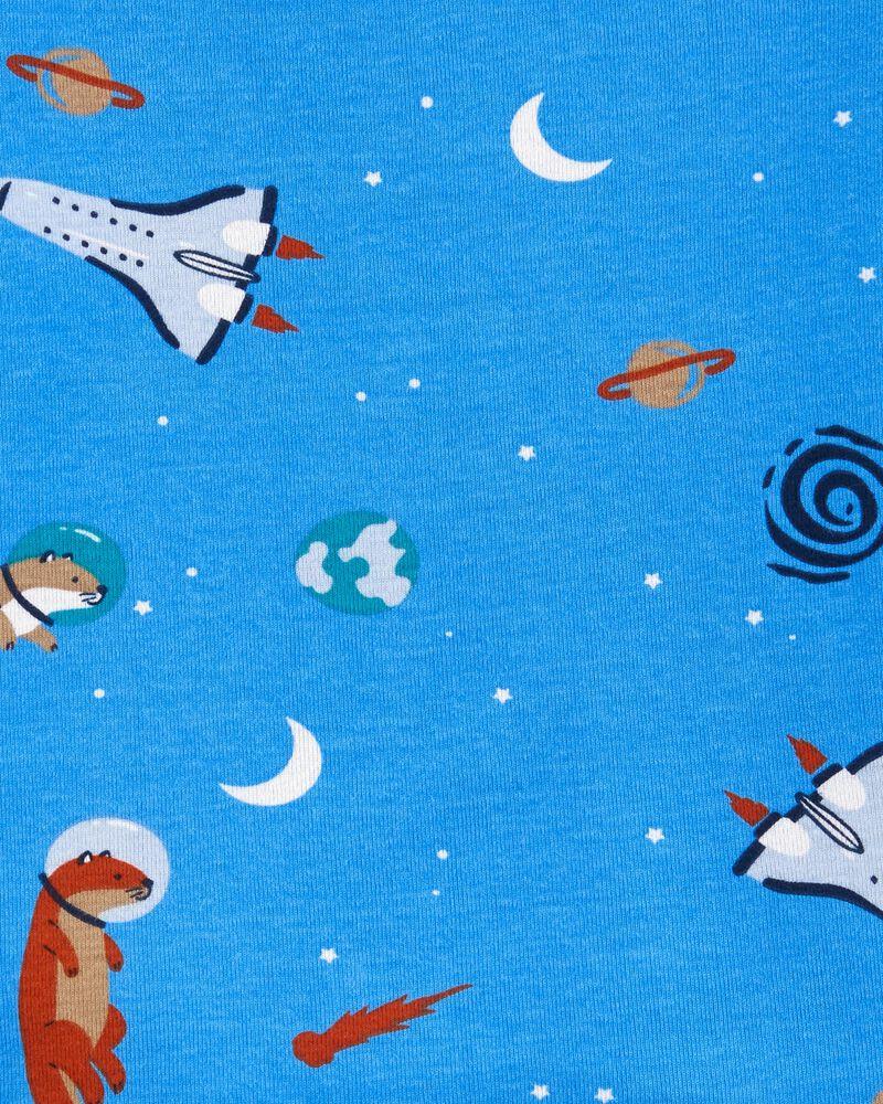 Pyjama 4 pièces en coton ajusté à moitf de loutre, , hi-res