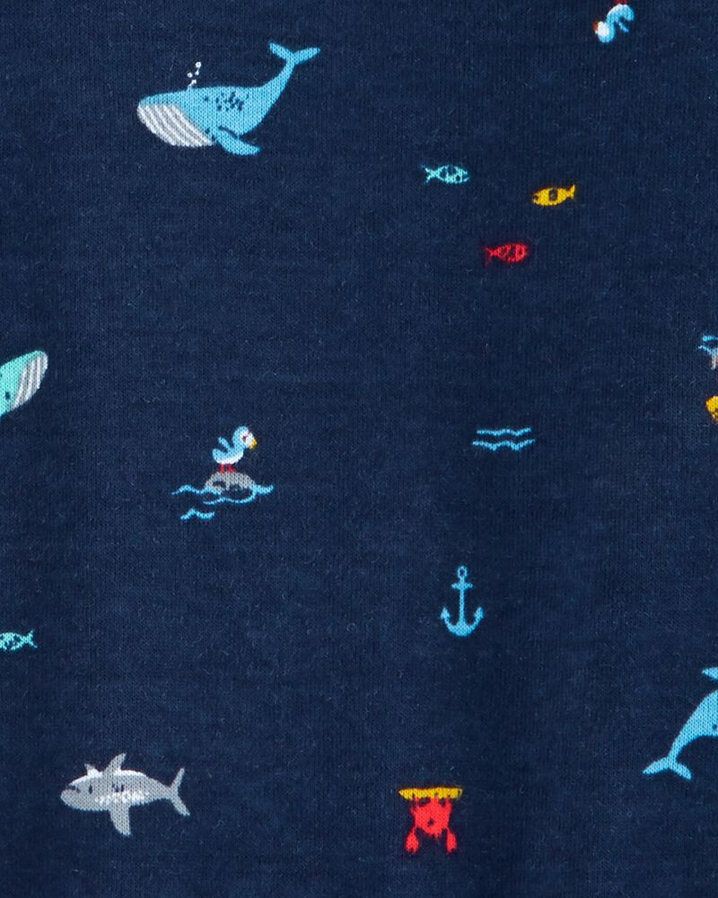 2-Pack Whale & Shark Rompers, , hi-res