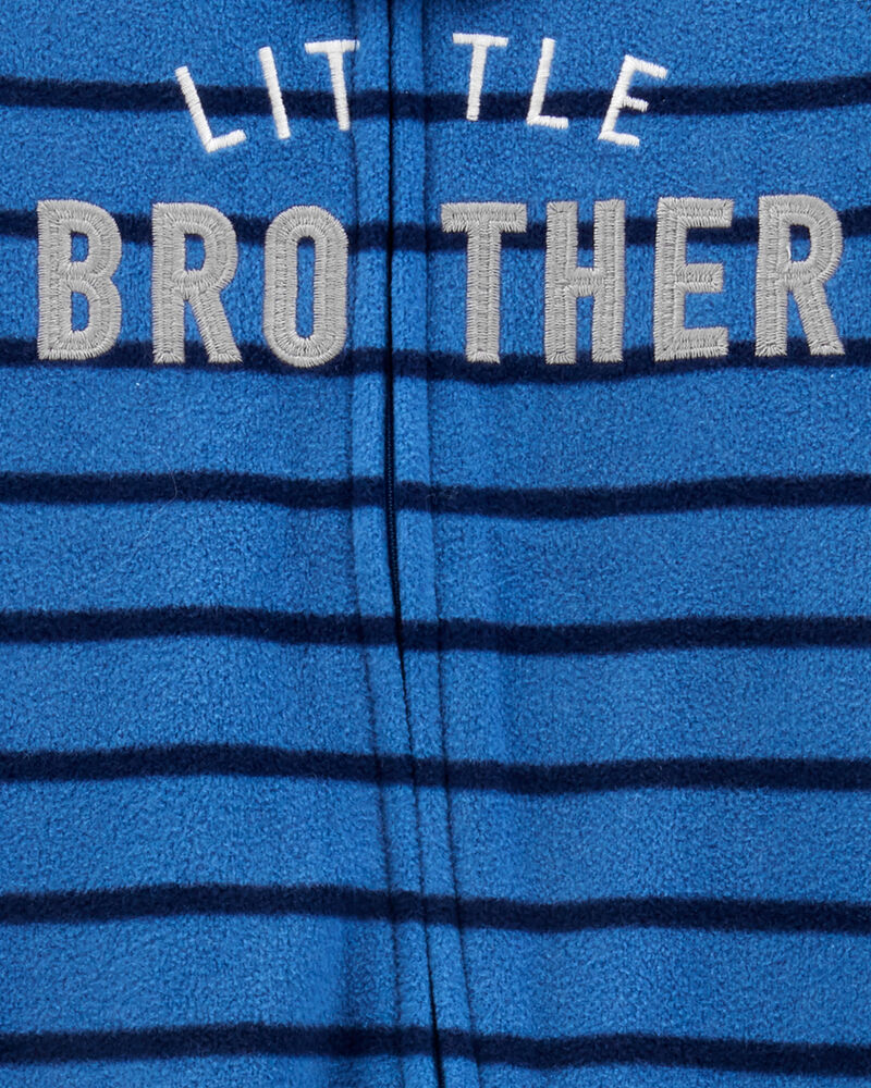 Grenouillère en molleton à glissière Little Brother, , hi-res