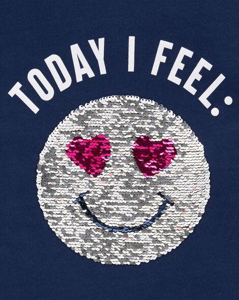 Flip Sequin Emoji Hi-Lo Tee