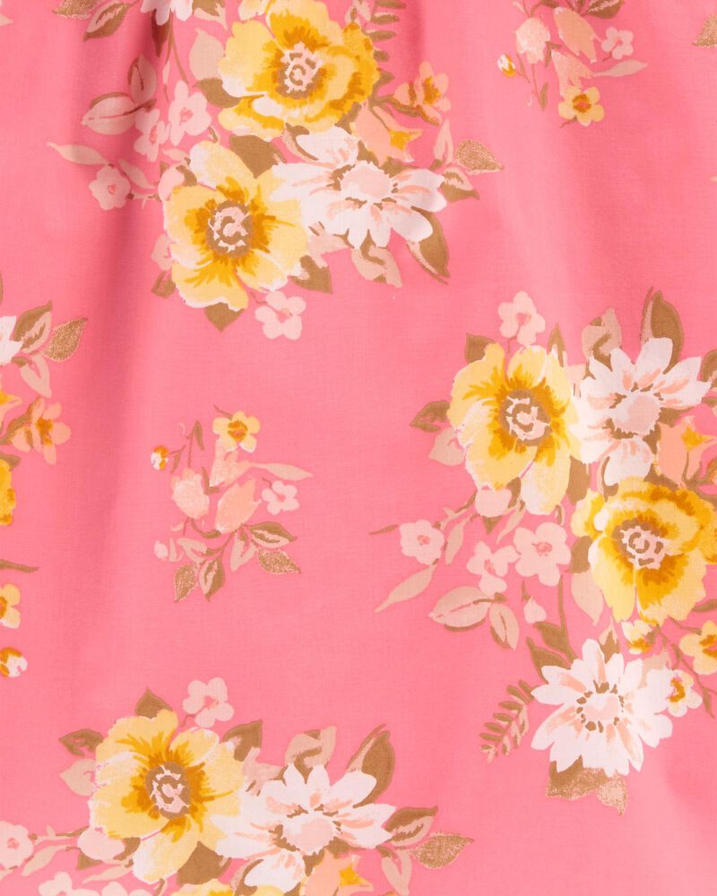 Floral Puff Sleeve Top, , hi-res