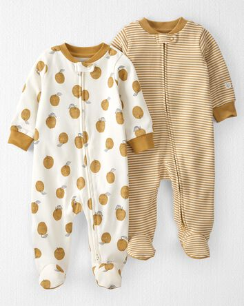 2-Pack Organic Cotton 2-Way Zip Sle...