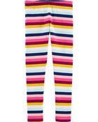 Legging à rayures multicolores, , hi-res
