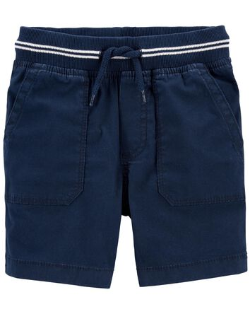 Pull-On Stretch Canvas Shorts
