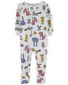 1-Piece Animals 100% Snug Fit Cotton Footie PJs, , hi-res