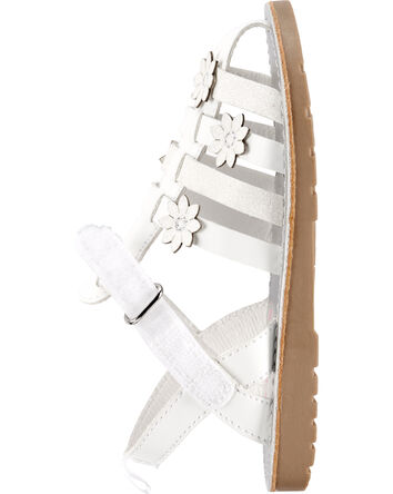 Sandales de style pêcheur à fleurs