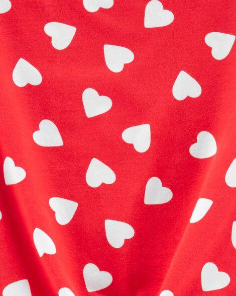 Robe en jersey avec cœur et nœud devant