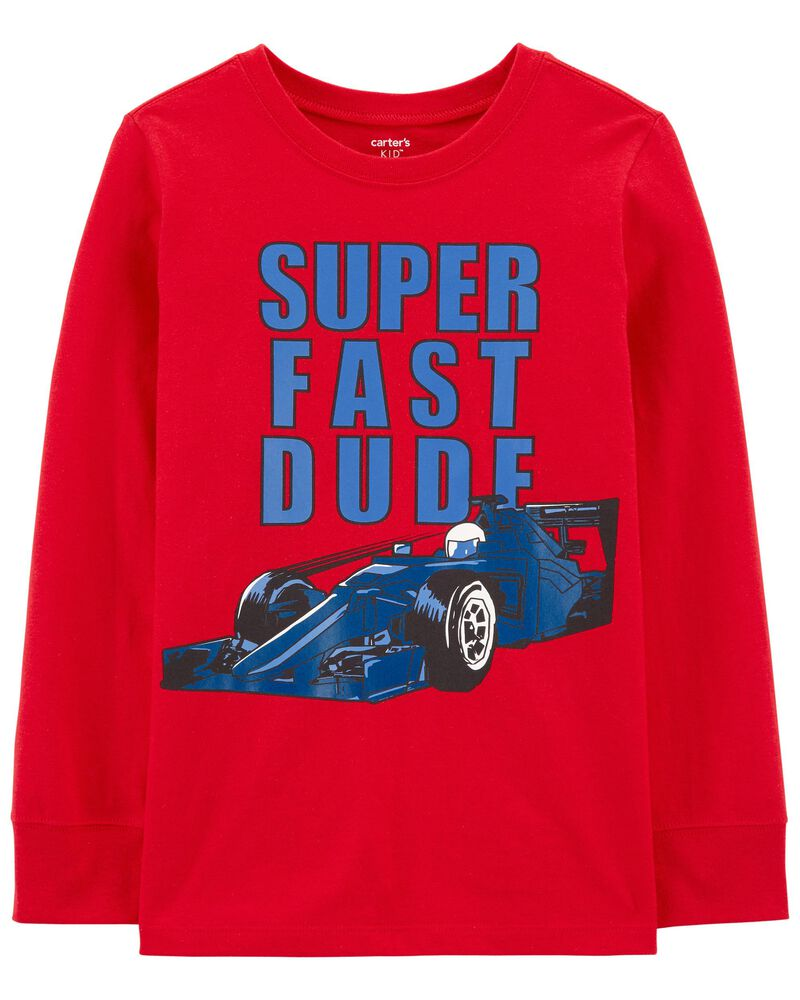 T-shirt en jersey Super Fast Dude Car, , hi-res