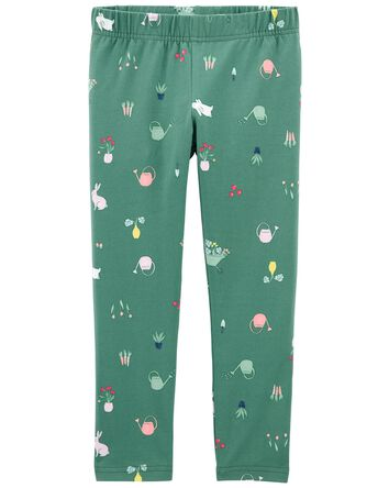 Floral Bunny Leggings