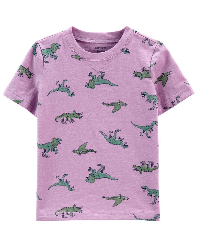 Polo en jersey flammé dinosaure, , hi-res