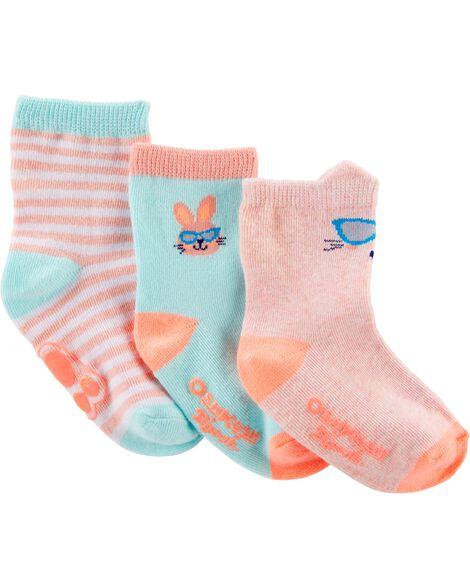 3-Pack Bunny Crew Socks