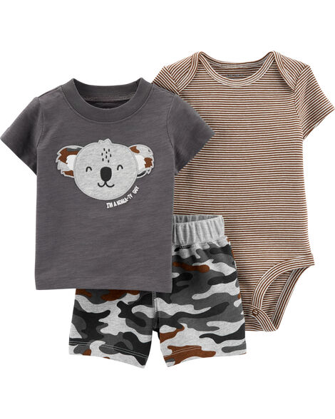 3-Piece Koala Little Short Set