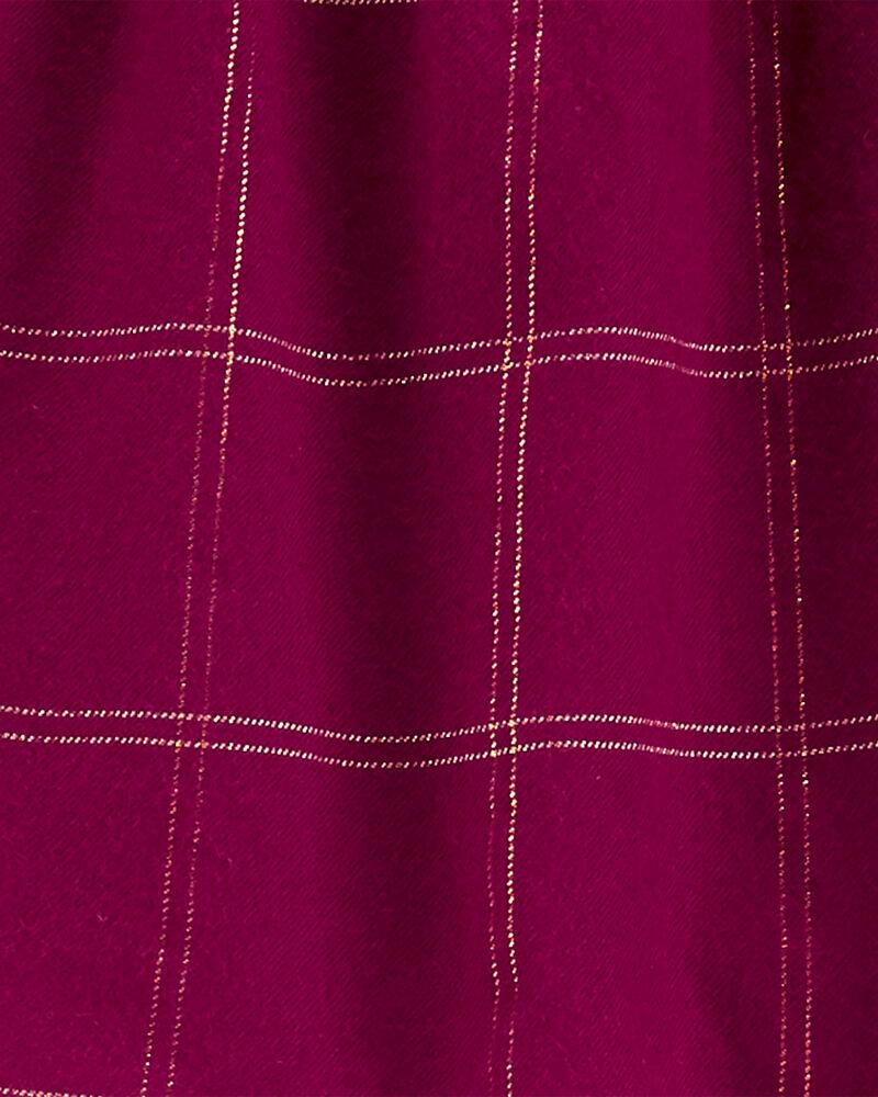 2-Piece Plaid Flannel Top & Jegging Set, , hi-res