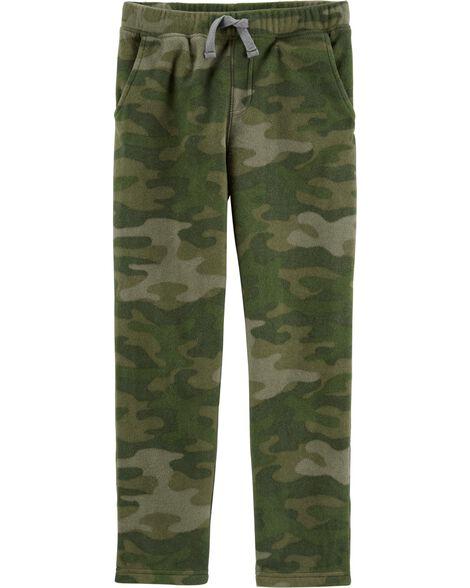 Camo Pull-On Fleece Pants