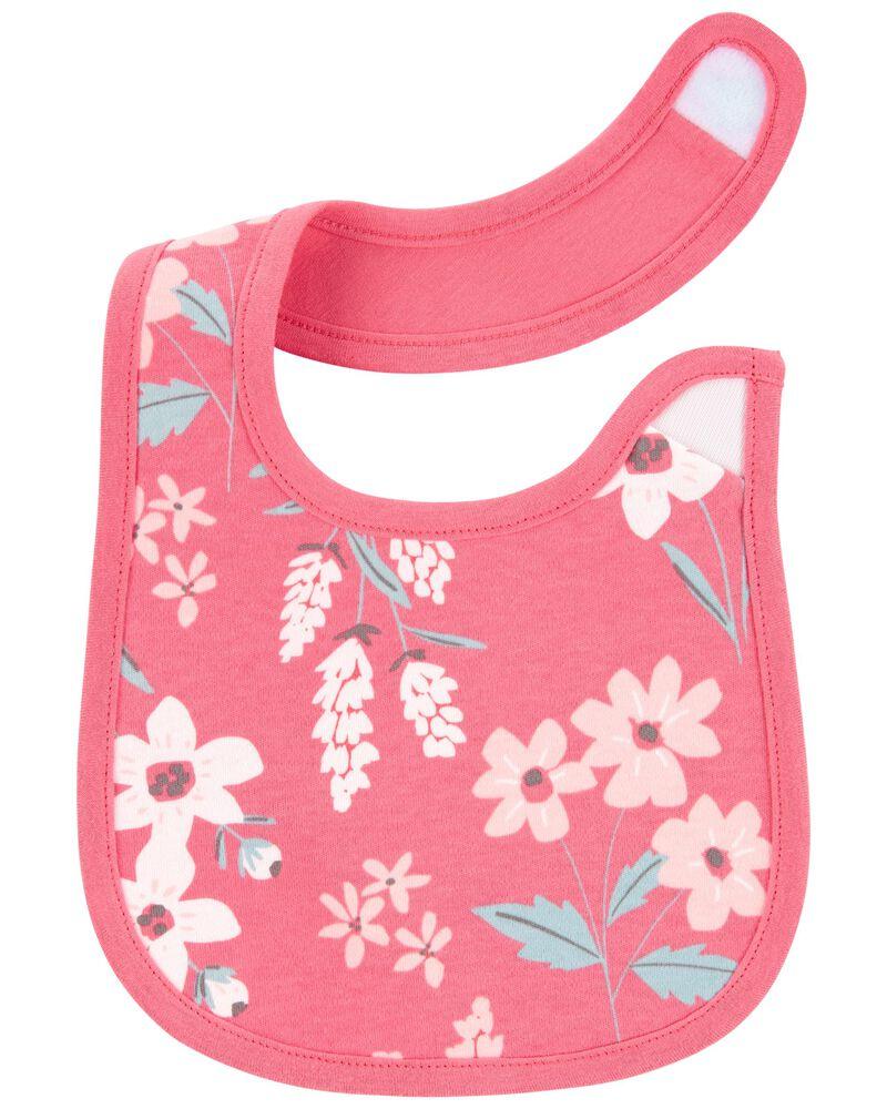 4-Pack Floral Teething Bibs, , hi-res