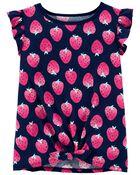 T-shirt en jersey à fraises, , hi-res