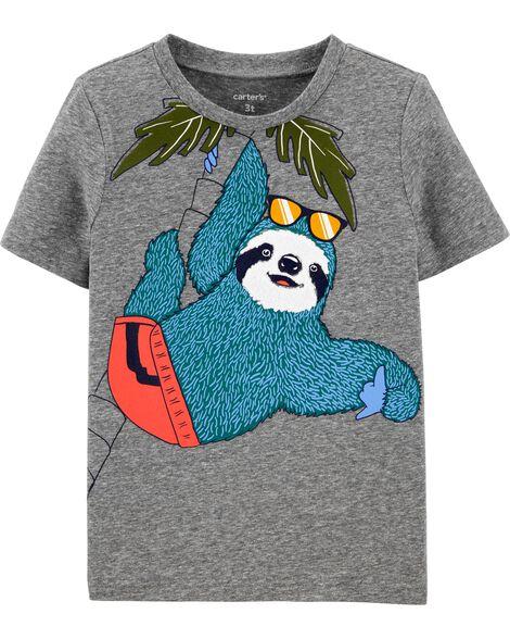 T-shirt en jersey chiné avec paresseux