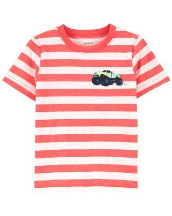 T-shirt en jersey rayé à camion