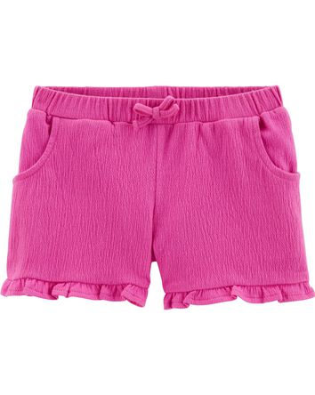 Ruffle Crinkle Jersey Shorts