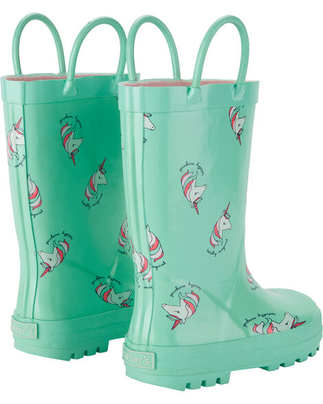 Bottes de pluie à motif licorne