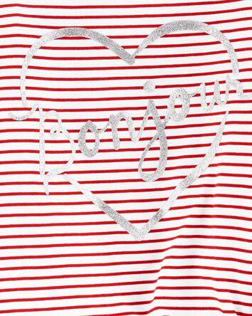 T-shirt en jersey à cœur Bonjour