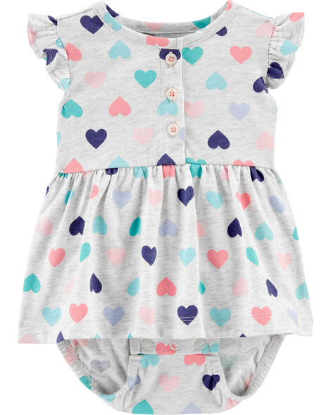 Heart Jersey Sunsuit