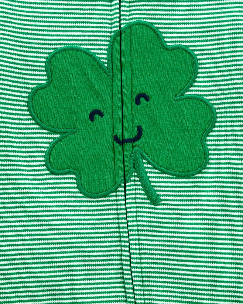 St. Patrick's Day Zip-Up Cotton Sleep & Play, , hi-res