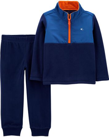 2-Piece Fleece Pullover & Jogger Se...