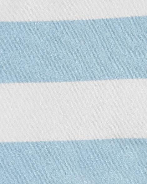 Striped Shark Jersey Romper