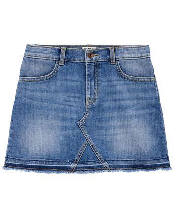 Stretch Denim Skirt in Upstate Blue...