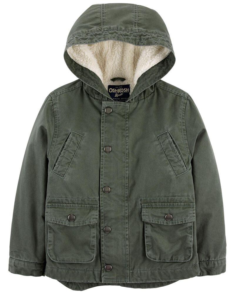 Sherpa-Lined Cargo Jacket, , hi-res