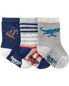 3-Pack Striped Character Crew Socks, , hi-res