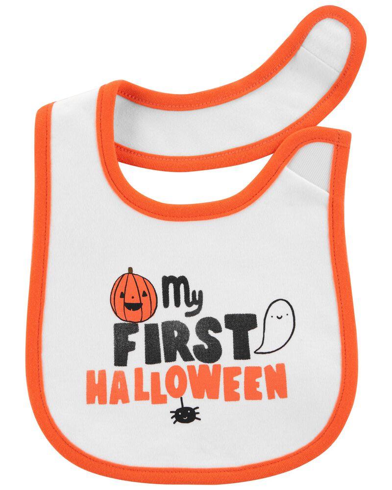 First Halloween Teething Bib, , hi-res