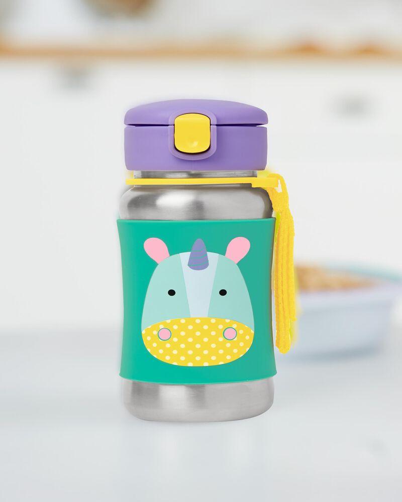 Zoo Stainless Steel Little Kid Straw Bottle, , hi-res