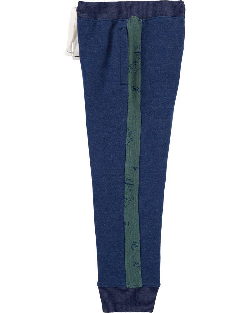 Pantalon de jogging en jersey bouclette rayé, , hi-res