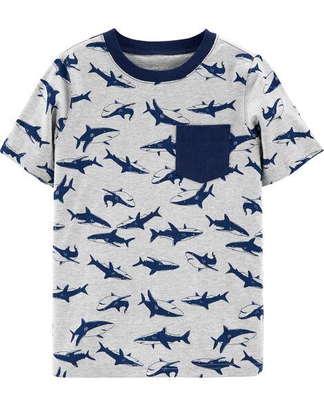 Débardeur en jersey à poche et requin