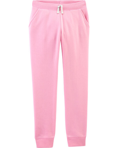 Pantalon en molleton rose