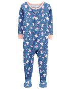 Pyjama 1 pièce à pieds en coton ajusté , , hi-res