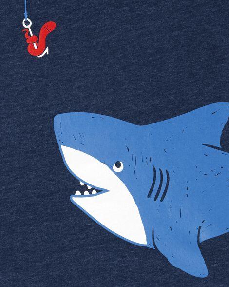 Ensemble 2 pièces débardeur requin et short en coutil