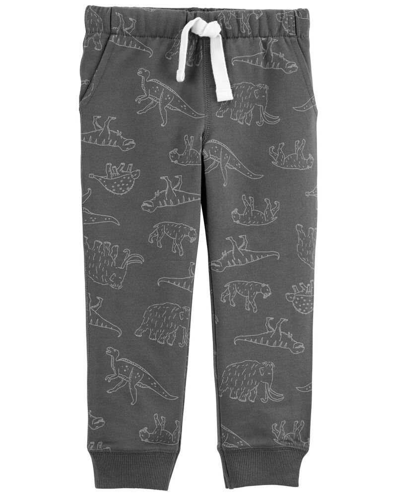 Dinosaur French Terry Joggers, , hi-res