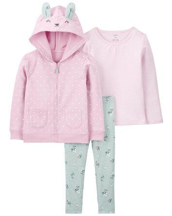 3-Piece Bunny Little Jacket Set