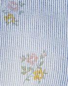 Floral Hickory Stripe Overalls, , hi-res