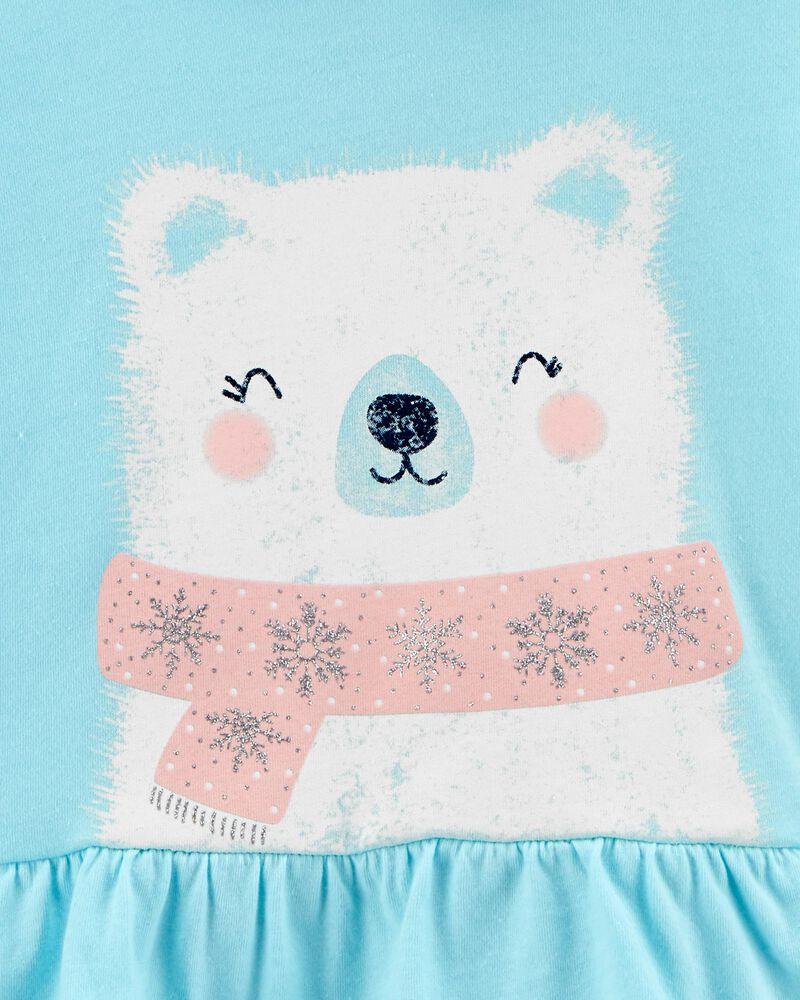 T-shirt à capuchon en jersey avec ours polaire, , hi-res