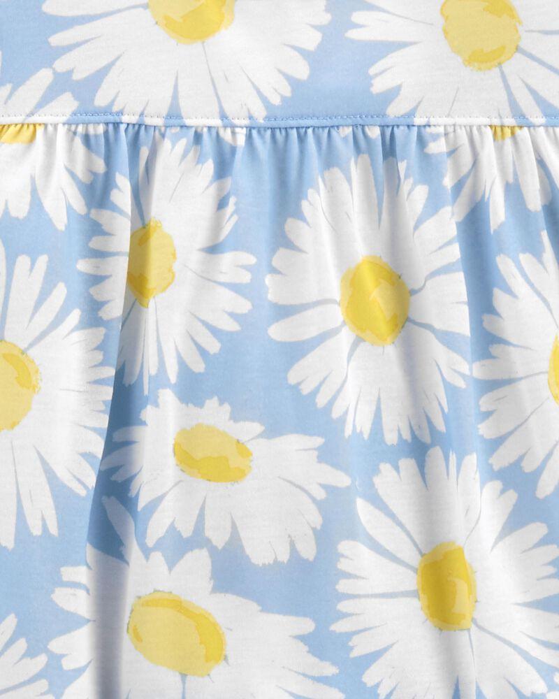 Pyjama 3 pièces de coupe ample à marguerites, , hi-res