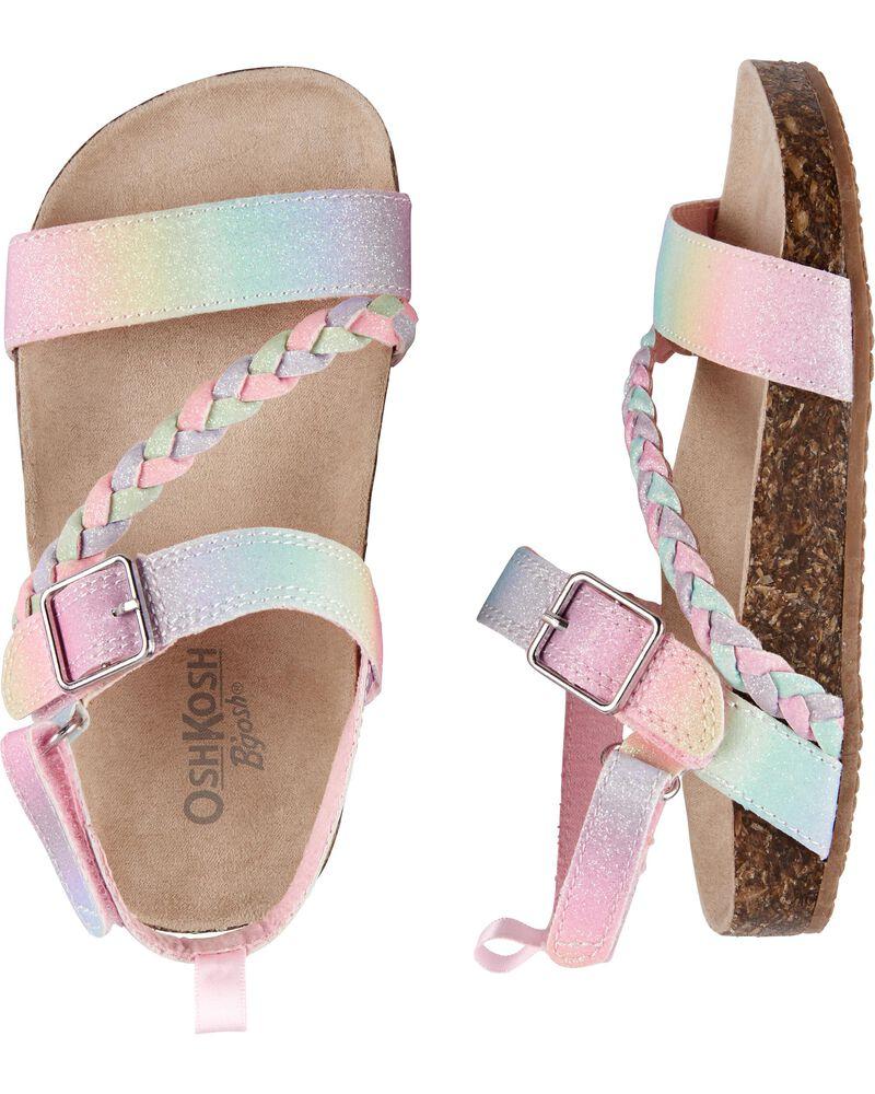 Sandales à boucle arc-en-ciel, , hi-res
